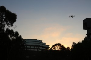 Copter over Geisel